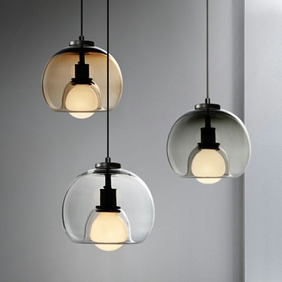 Style Clear Glass Hanging Light with 37.5
