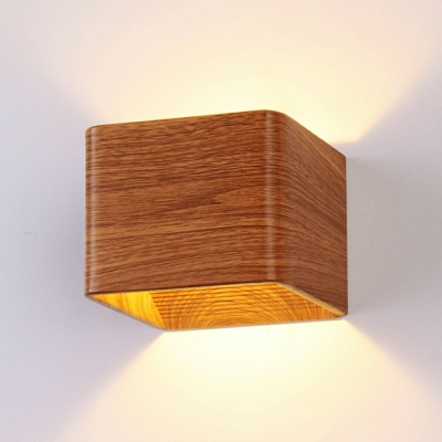 Modern Simplicity Square Wall Lamp 1 Light Wall Mounted Plug in Lights for Bedroom