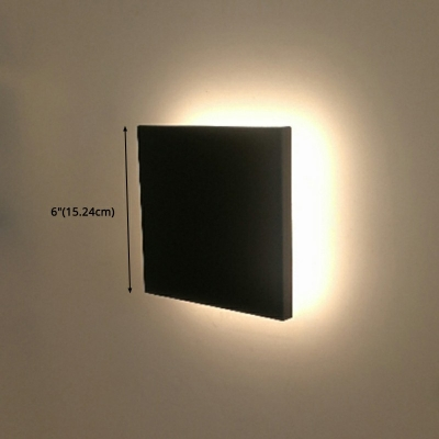 Modern Style Wall Light LED Fixture Not Dimmable Ambient Eclipse LED Wall Sconce for Bedroom Living Room Hallway in Warm Light