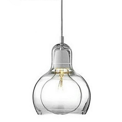 Gourd Suspension Light Modern Design Double Layer Glass 1 Head Drop Light for Sitting Room