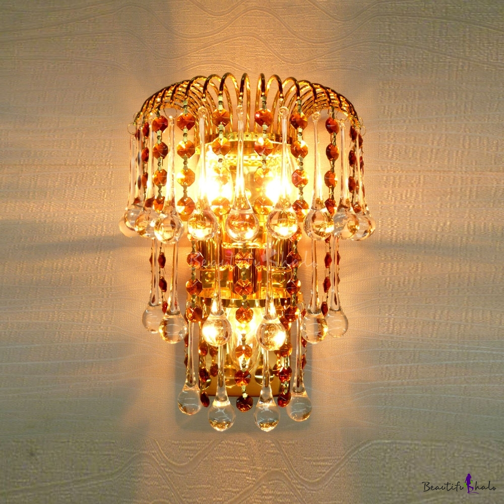 Buy Brightness Simplicity K9 Crystal Wall Light Fixture SILVER at GearBest - Chinese Goods ...