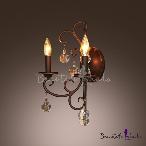 Buy Classic Exquisite Strolling Wrought Iron Candelabra Style Wall Light Fixture