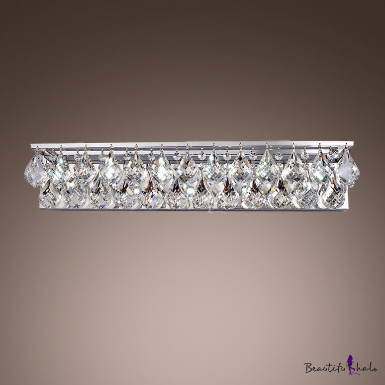 Accentuate Your Sophisticated Bathroom Decor With Brilliant Two Light Crystal String Bathroom