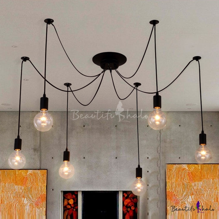 edison bulb black multi light pendant. Black Bedroom Furniture Sets. Home Design Ideas