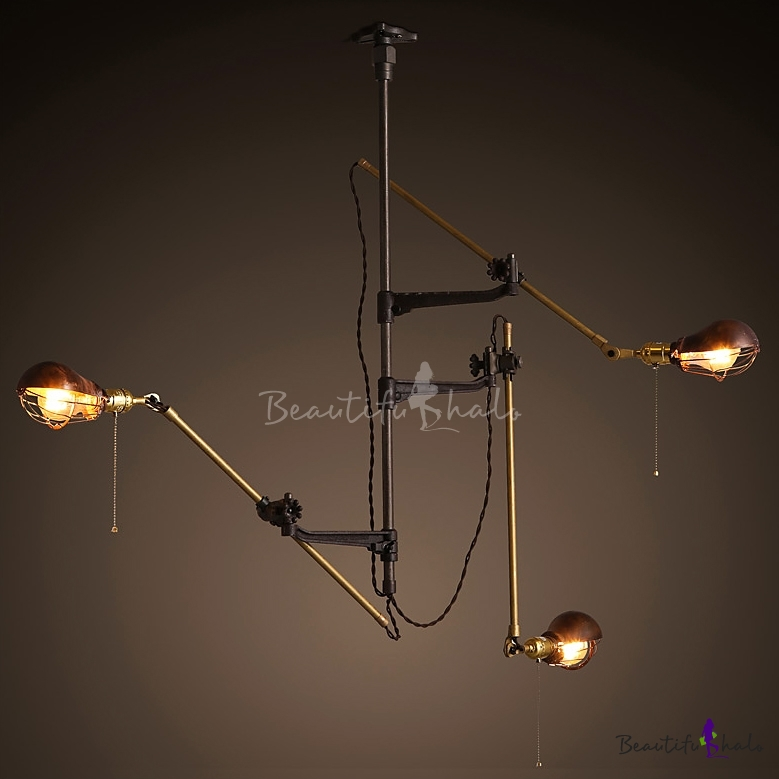 Vintage brilliant design gourd shaped industrial retro 3 light wall vintage brilliant design gourd shaped industrial retro 3 light wall light with swing arm beautifulhalo aloadofball Image collections