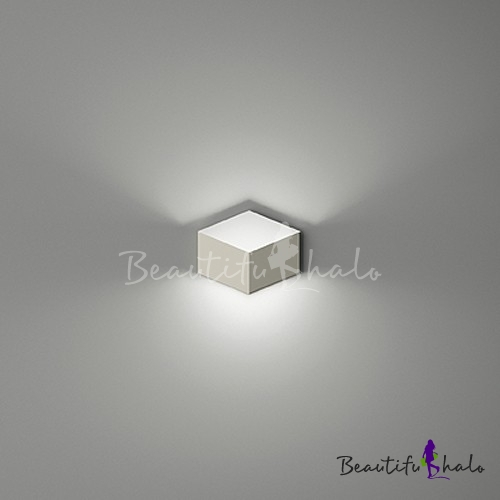 Ordinaire Designer Mini LED Wall Light In Brilliant Design Soft And Chic White Metal  Cube