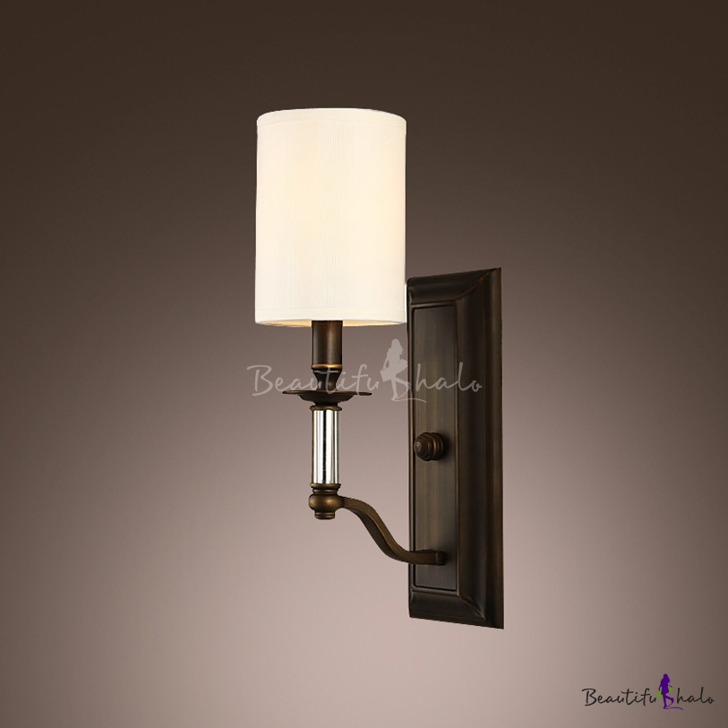 Crystal Wall Sconces With Shades : Buy Magnificent Wrought Iron Crystal Creates Stunning Wall Sconce Beige Fabric Shade at ...
