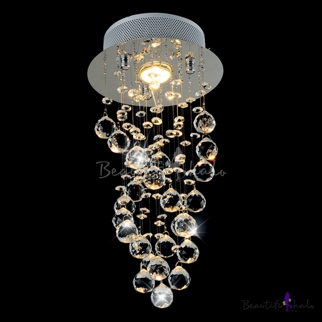 Buy Wonderfully 9 8 Inchhigh Crystal Accented Flush Mount