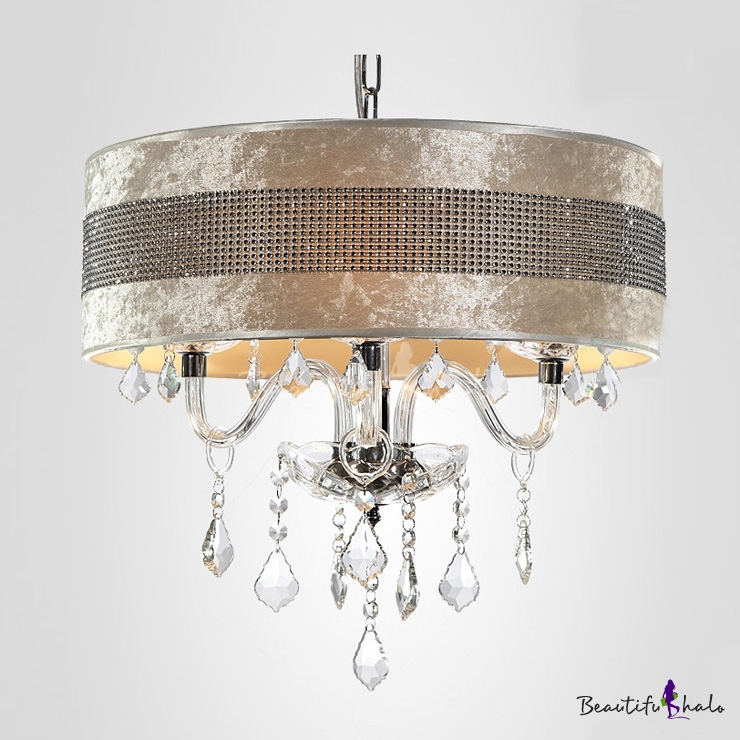 Stunning plastic crystal embedded shade clear crystal droplets stunning plastic crystal embedded shade clear crystal droplets chandelier ceiling light beautifulhalo aloadofball Image collections