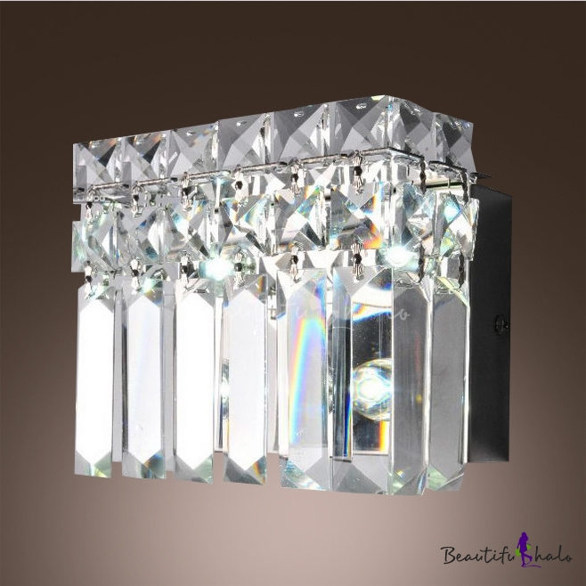 Buy Glimmering Barth Wall Light Adorned Hand Cut Crystals Mkes Great Addition Home.