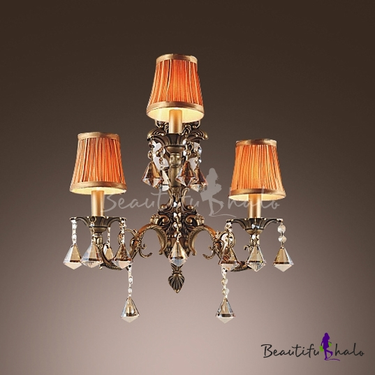 Buy Sophisticates Three Light Wall Sconce Features Wrought Iron Scrolling Arms Crystal Drops