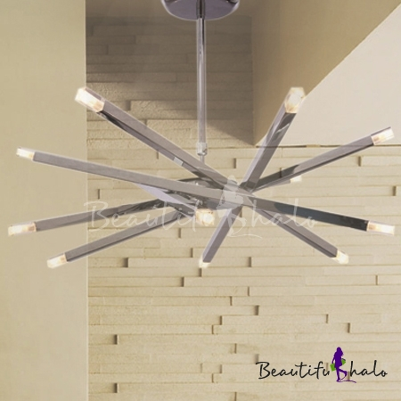 Chrome bar led modern 10 light flush mount ceiling light chrome bar led modern 10 light flush mount ceiling light beautifulhalo aloadofball Image collections