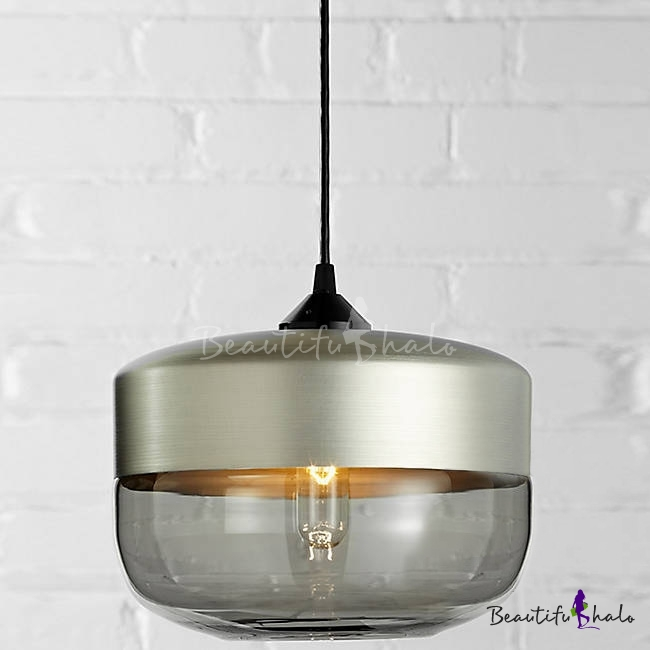 Tank Shade Champagne Socket Industrial Colored Pendant