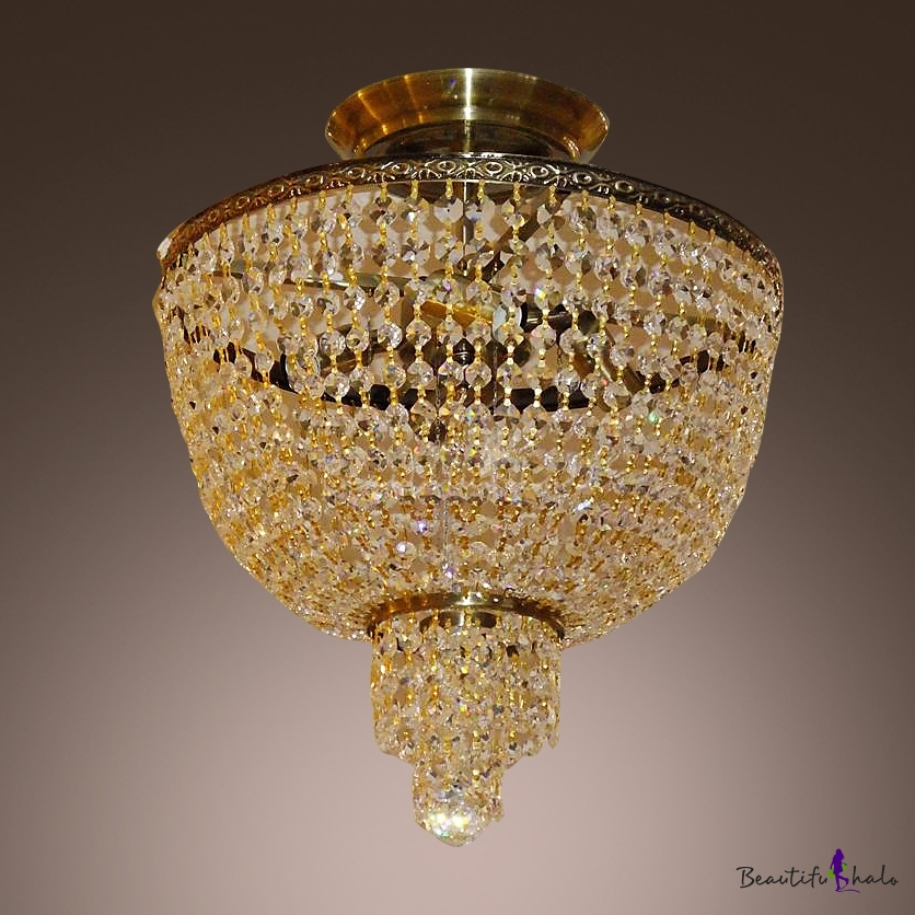 Draped crystal strands surround metal frame for bright sparkling draped crystal strands surround metal frame for bright sparkling ceiling accent beautifulhalo aloadofball Images