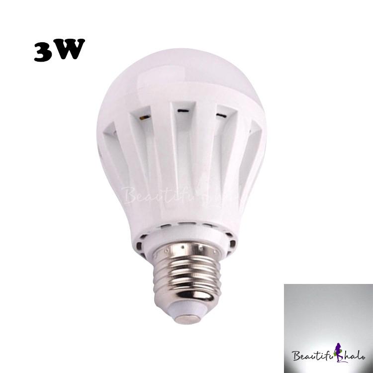 Buy 240lm E27 3W PC LED Globe Bulb Cool White Light