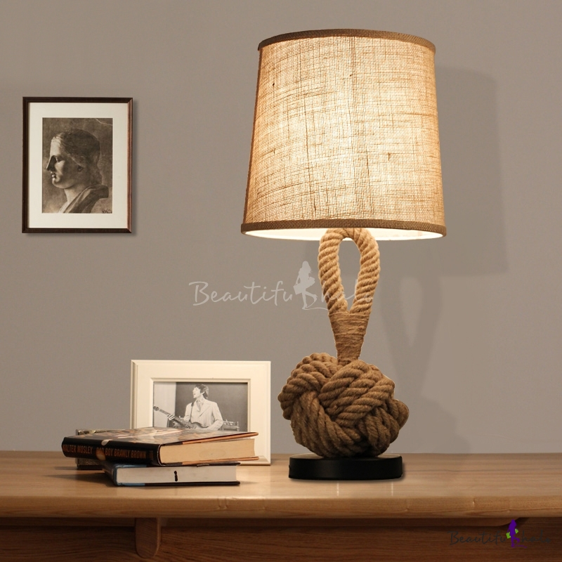 industrial fashion linen base table lamp exclusive sale