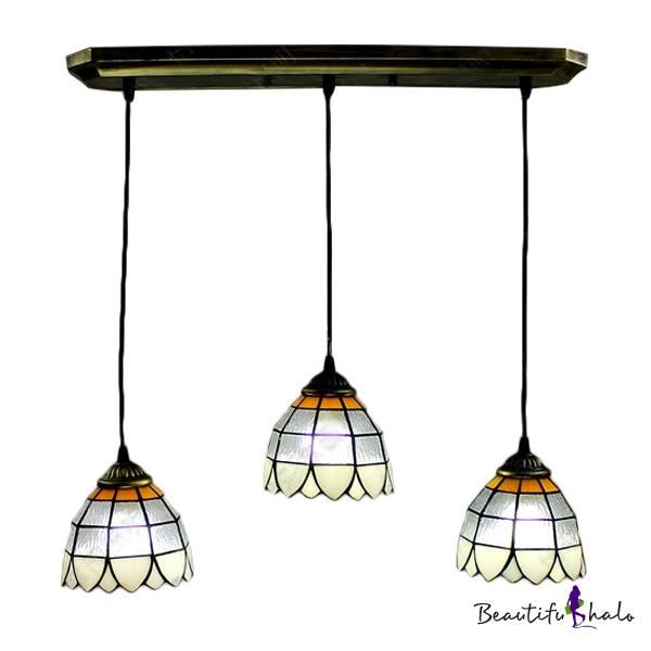 Three Lights Adjustable Tiffany Downlight Multi Light Pendant Beautifulhalo