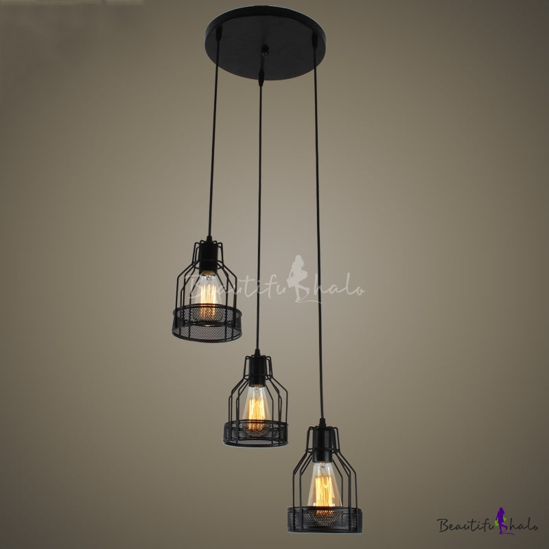 industrial dining room 3 light multi light pendant with