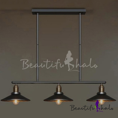 Linear industrial style led chandelier with 3 light beautifulhalo aloadofball Images