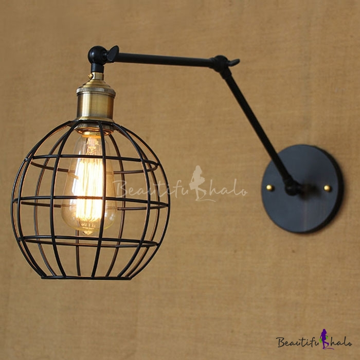 Buy Industrial Globe Wire Cage 1 Light Mini-Pendant