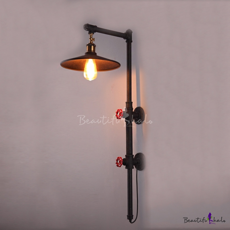 31 Height 1 Light Large Led Wall Sconce In Pipe Design
