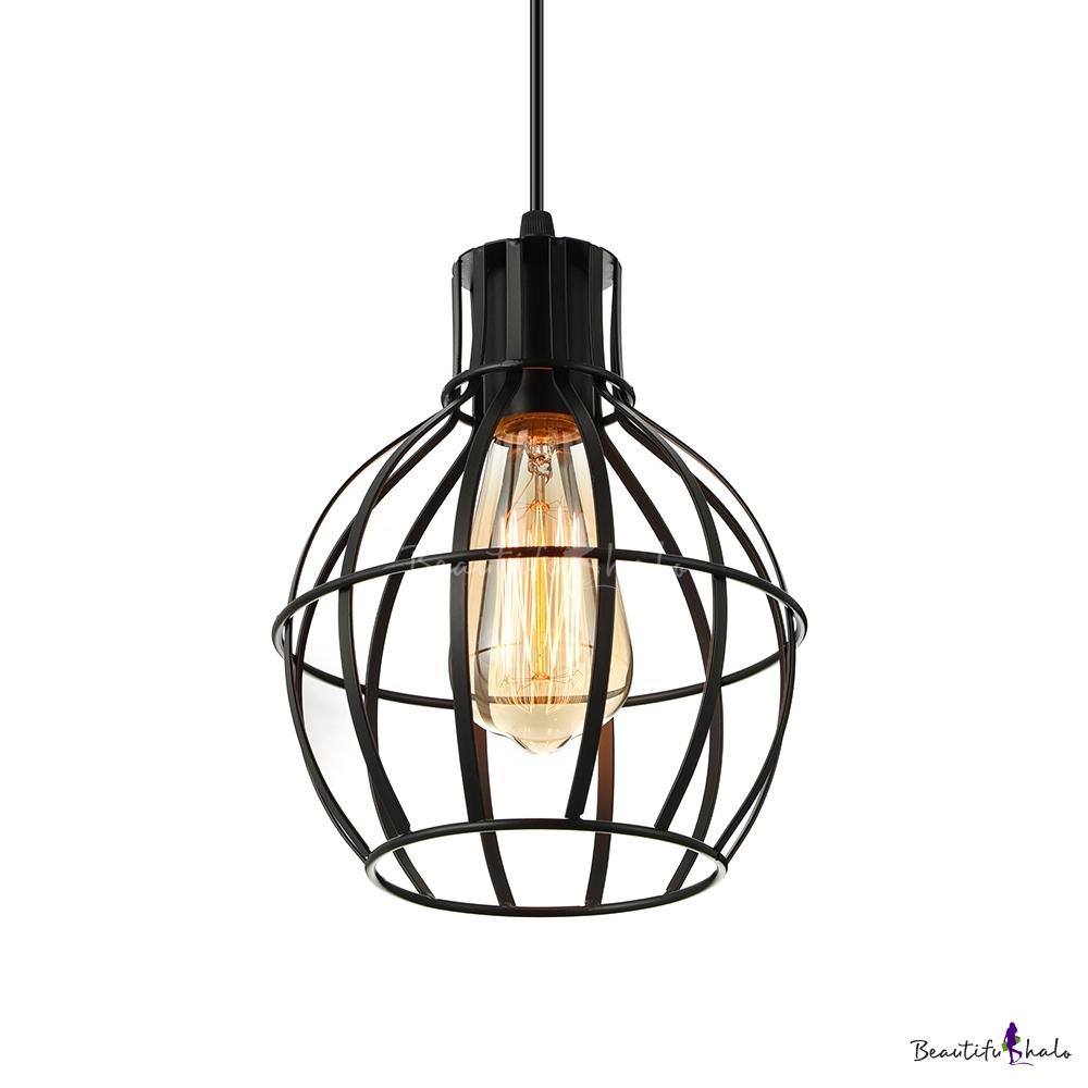 Portfolio Track Pendant Lighting: Satin Black 1 Light Iron Lattice Globe LED Mini Pendant