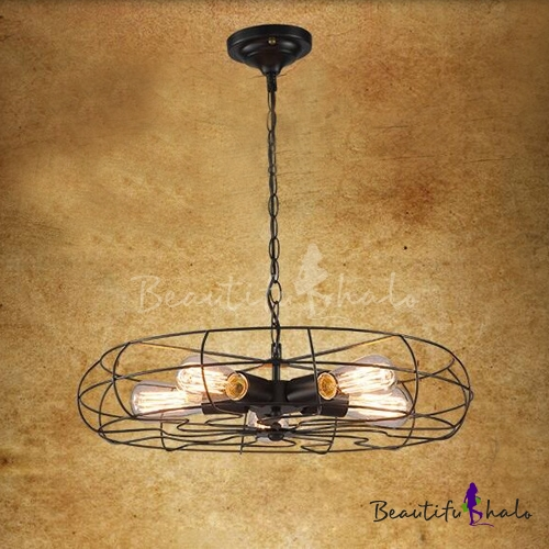 Antique Dining Room Ceiling Lights : Retro style light ceiling fan shape led hanging pendant