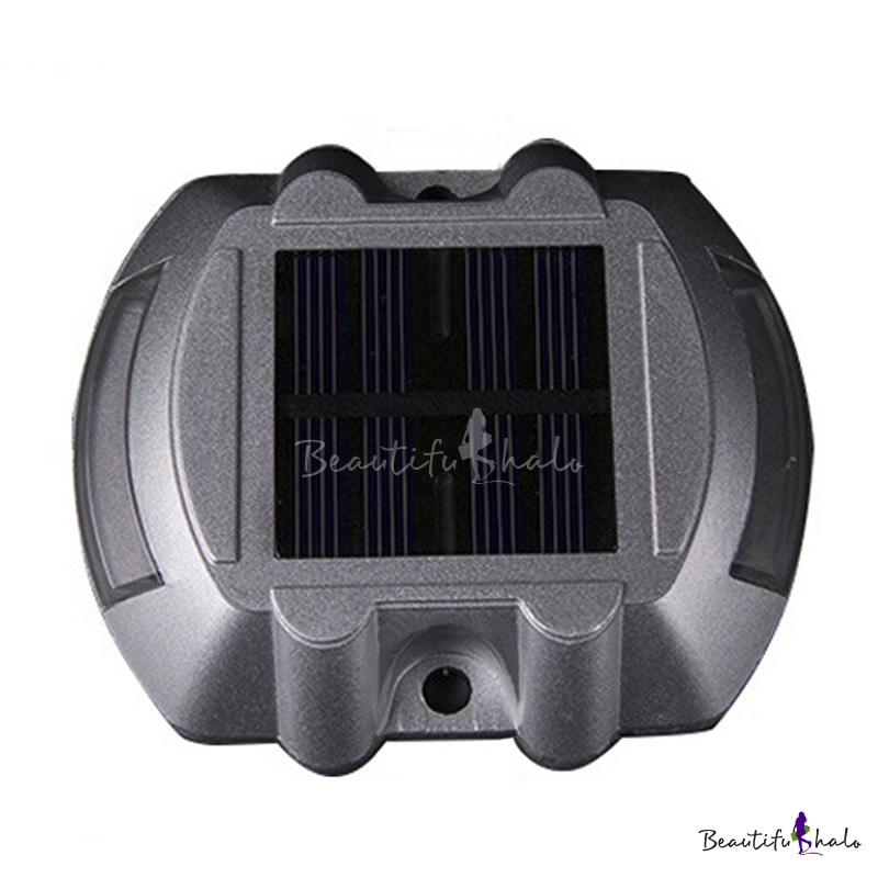 Buy Cast Aluminum Super Bright 6 LED Solar Deck Light Yellow