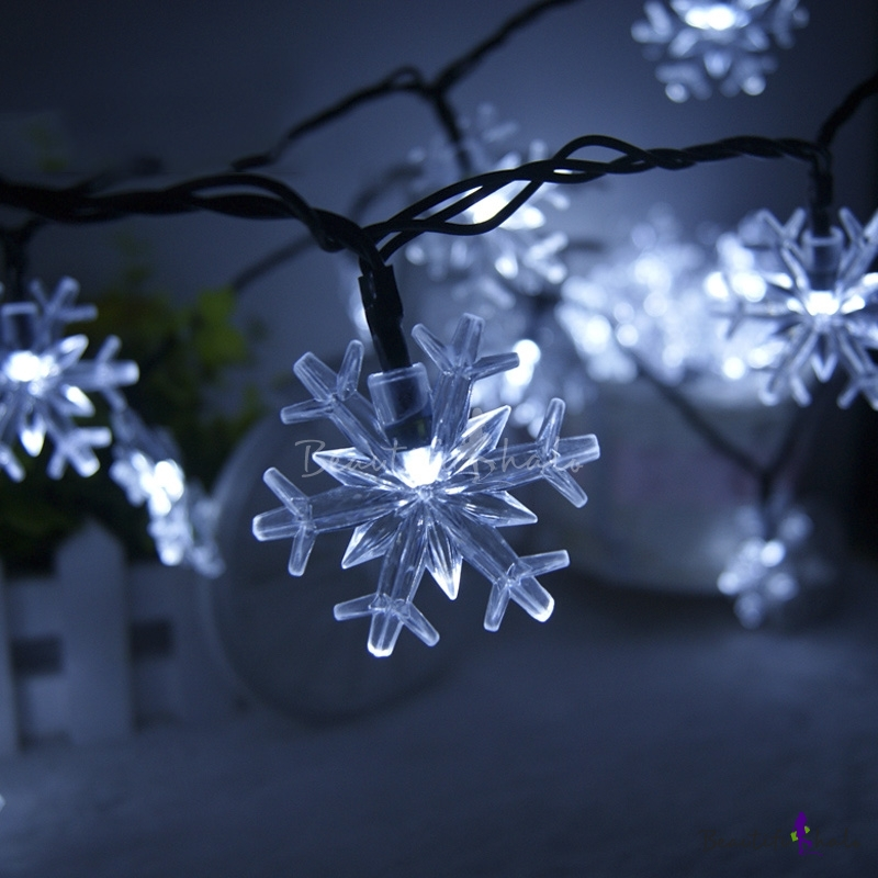 Outdoor String Lights Philippines: Cool White 30 Pieces Snowflakes Outdoor Solar Led String