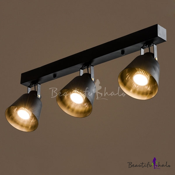 24 Inches Wide 3 Light Industrial Style LED Spotlight