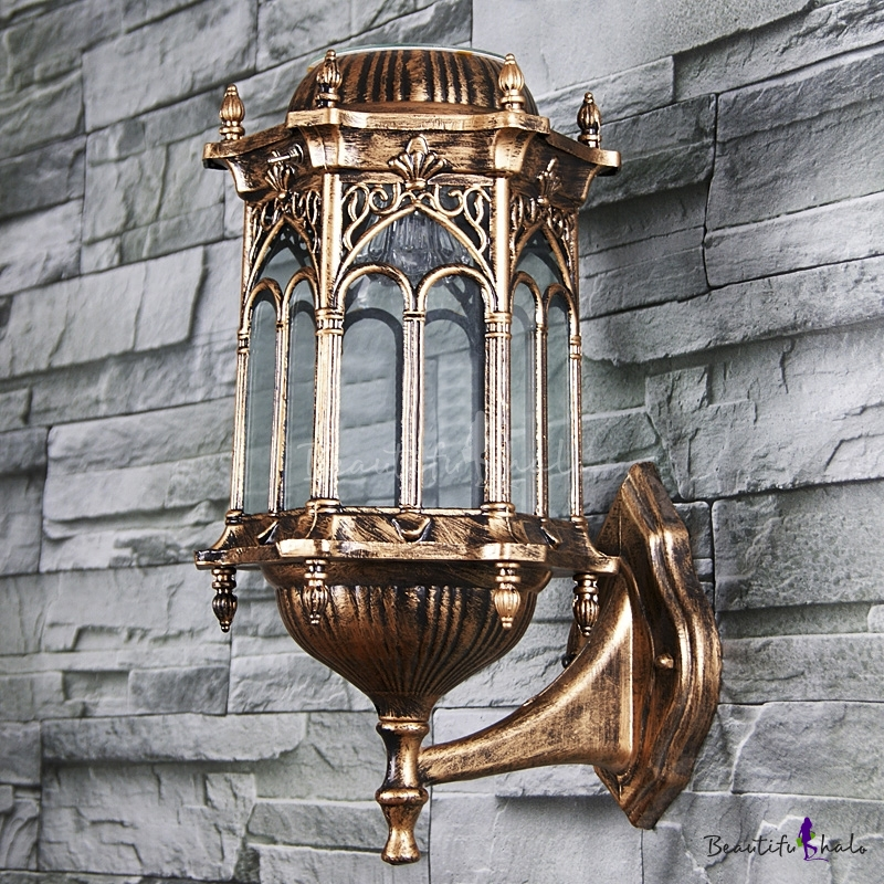 Buy Classic Bronze Vintage Style 15'' High Wireless Solar Powered Garden Outdoor Wall Lamp