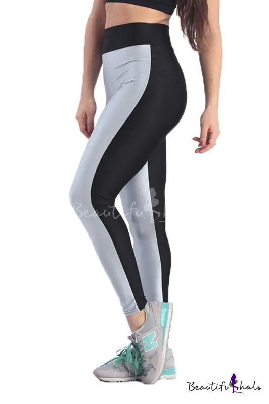 Buy Fashion Women Elastic Waist Yoga Sports Leggings at ...