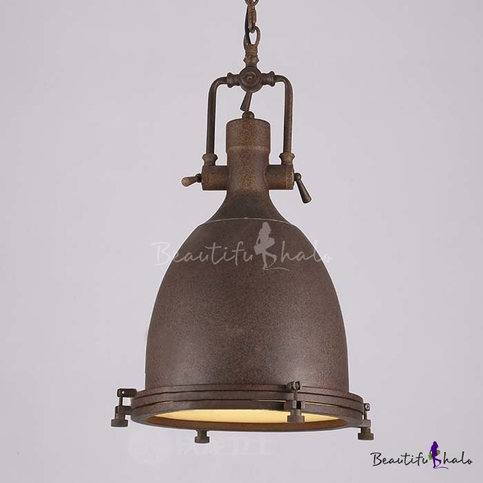 Industrial Style Single LED Pendant Light With Diffuser In