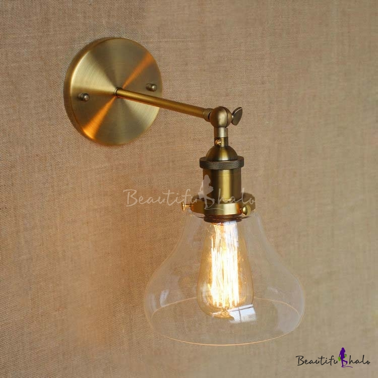 Sconce Wall Light with Clear Glass Bowl Shade - Beautifulhalo.com