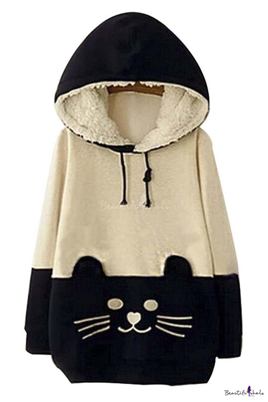 Black Cat Face Sweatshirt