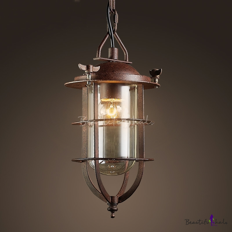 Buy Nautical Style 1 Light Mini Pendant Antique Copper Finish