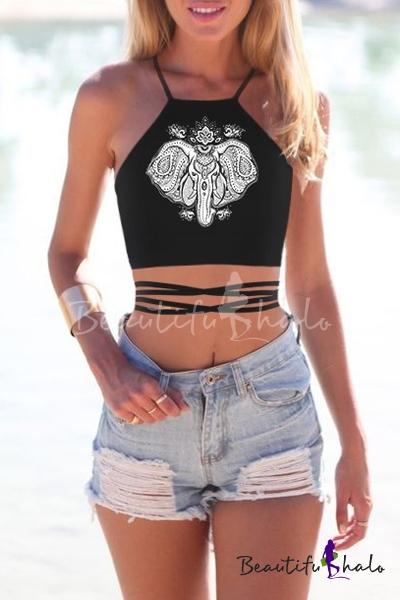 Women's Teens Girls Juniors Halterneck Sexy Vest Crop Top