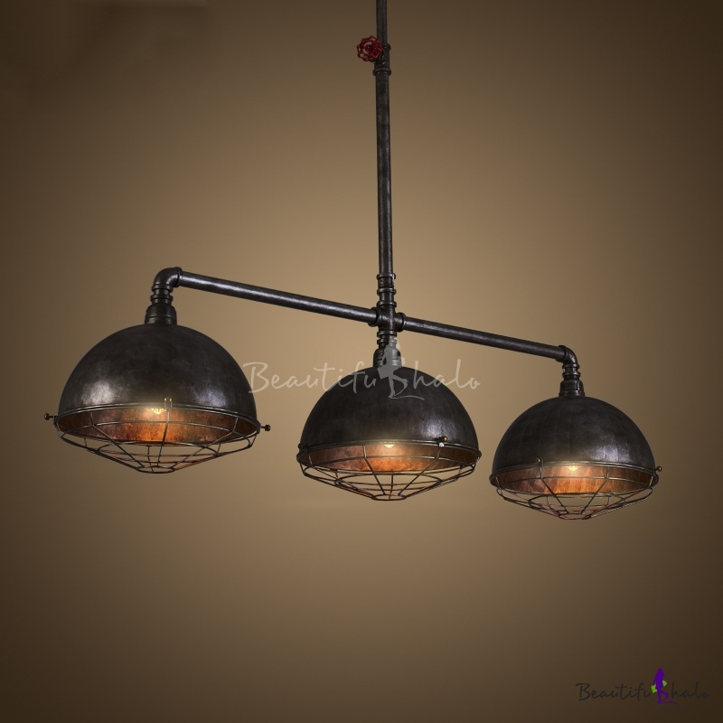 Buy vintage industrial iron pipe 3 light indoor ceiling for Pipe ceiling lighting