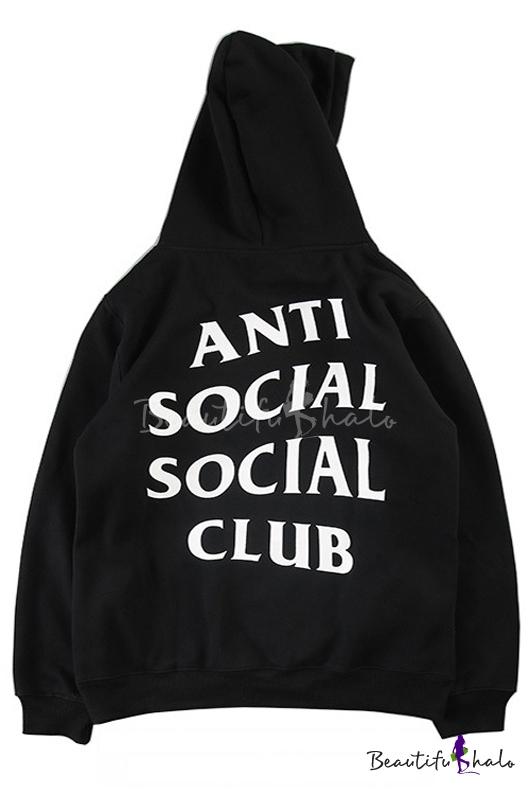 af9728ffe New Hooded ANTI SOCIAL SOCIAL CLUB Letter Printed Hoodie Sweatshirt with  One Pocket
