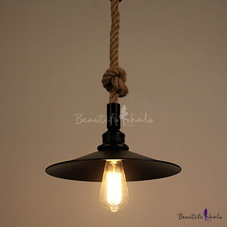 Industrial Single Pendant Light Rope Hanging Cord With
