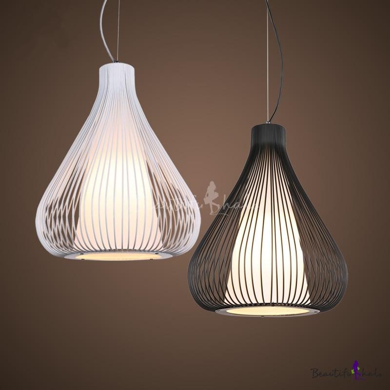 "Russian Industrial Pendants: Industrial Pendant Light With 10.63"" Teardrop Shade Net"