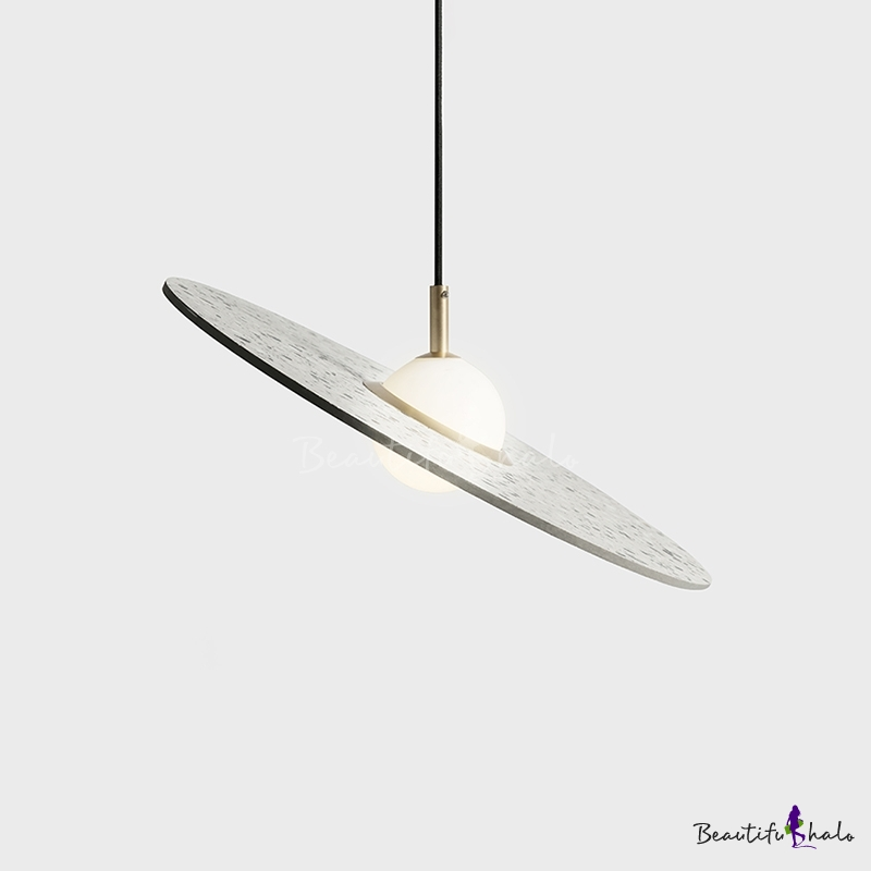 Round Disc Hanging Lamp Designers Style