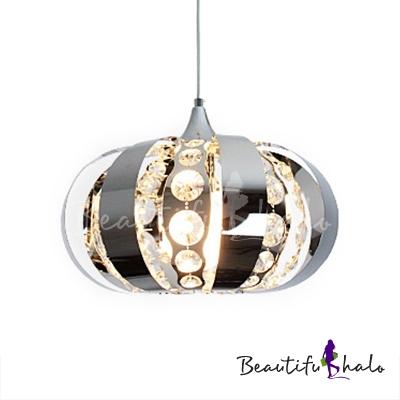 Kitchen Pendant Lights Modern Adjustable Hanging Cord, Lantern Pendant Lighting Clear Crystal Polished Chrome