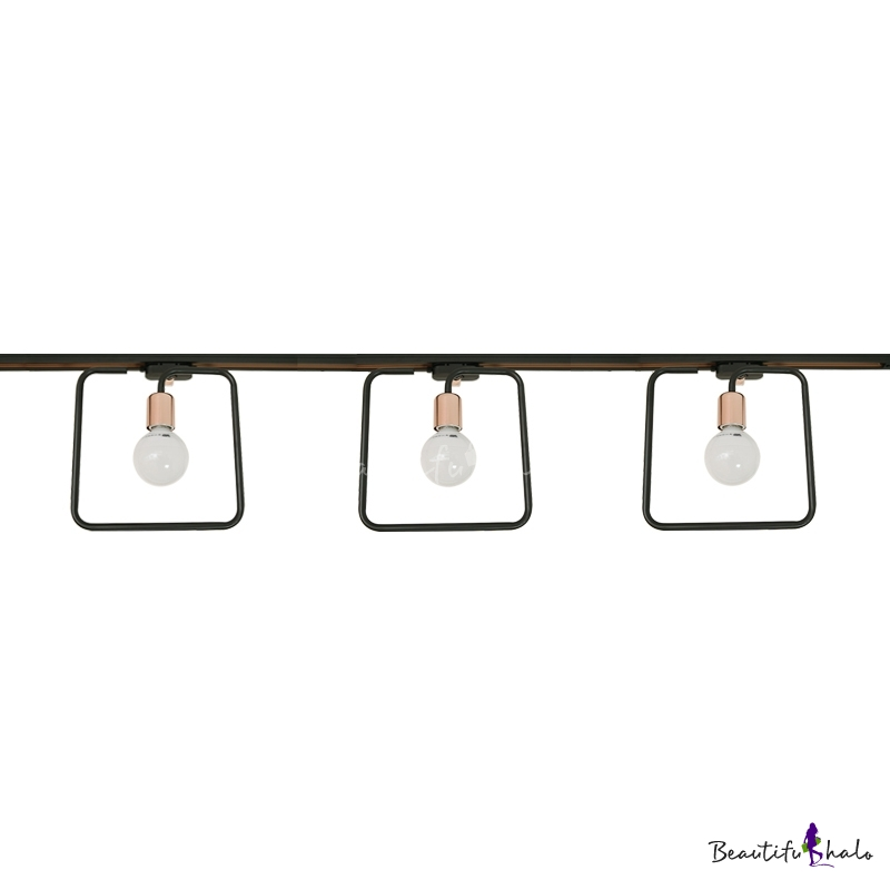 Square Led Flush Mount Light 3 4 Lights Antique Metal Track Lighting For Kitchen Hallway