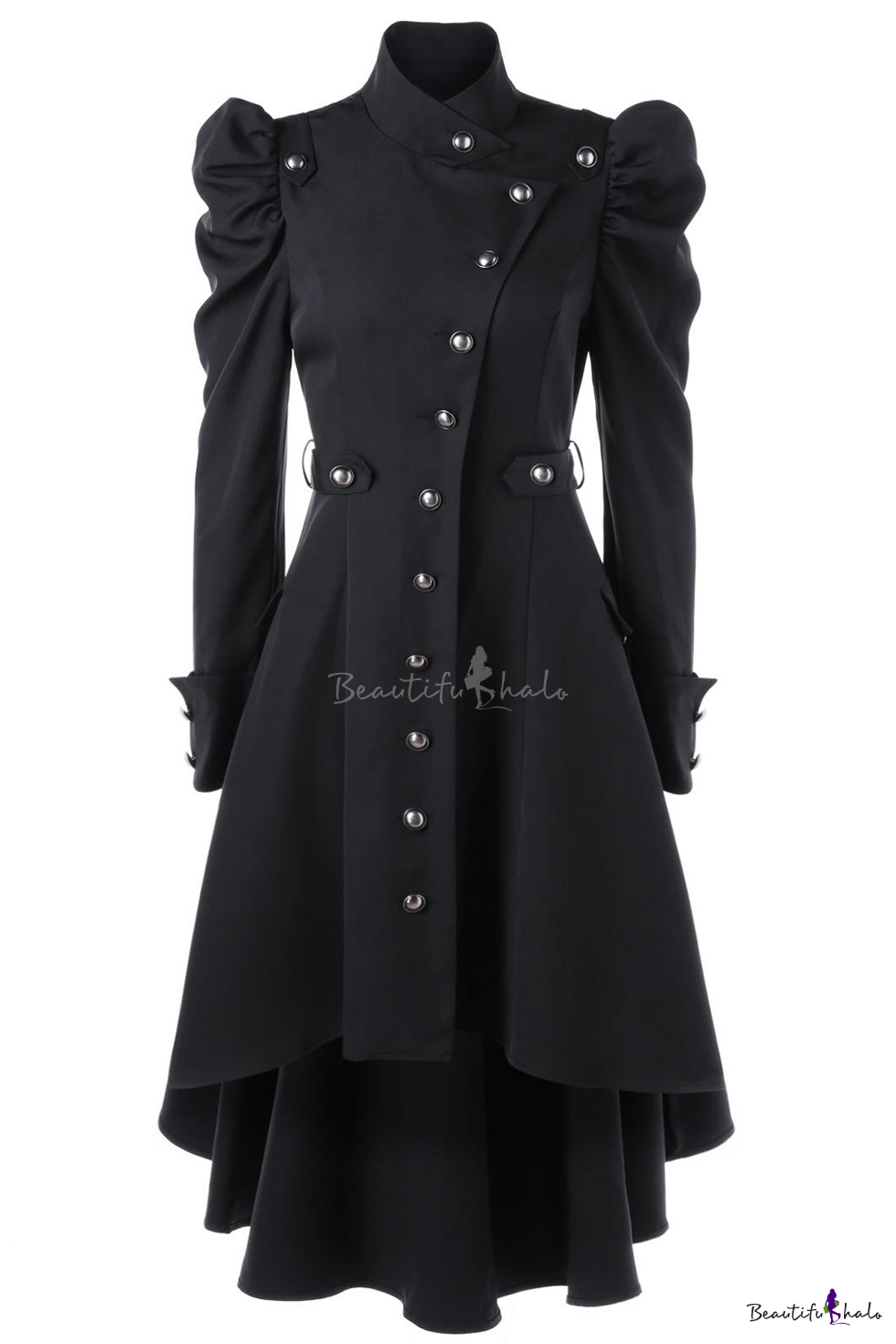 Incerto Questioni diplomatiche dolce  Womens Fashion Stand Collar Vintage Steampunk Long Coat Gothic Overcoat  Ladies Winter Retro Jacket Outwear - Beautifulhalo.com
