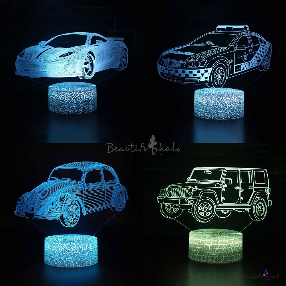 7 Color Changing Bedside Lamp With
