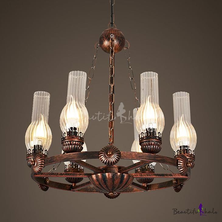 Hanging Light 6 Lights Vintage Style