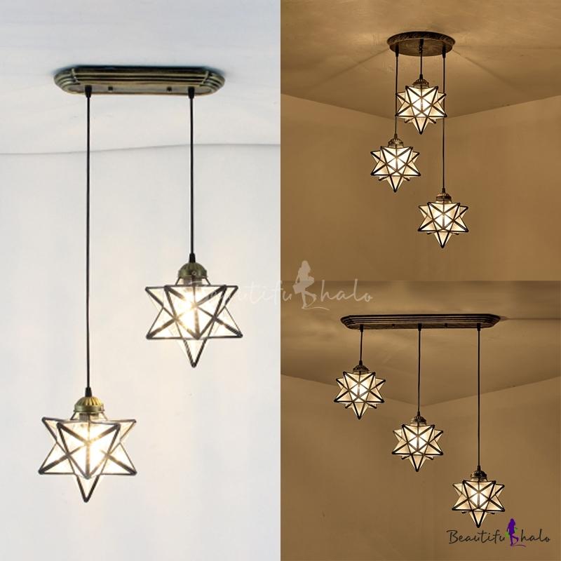 Star Pendant Light Tiffany Style Gl