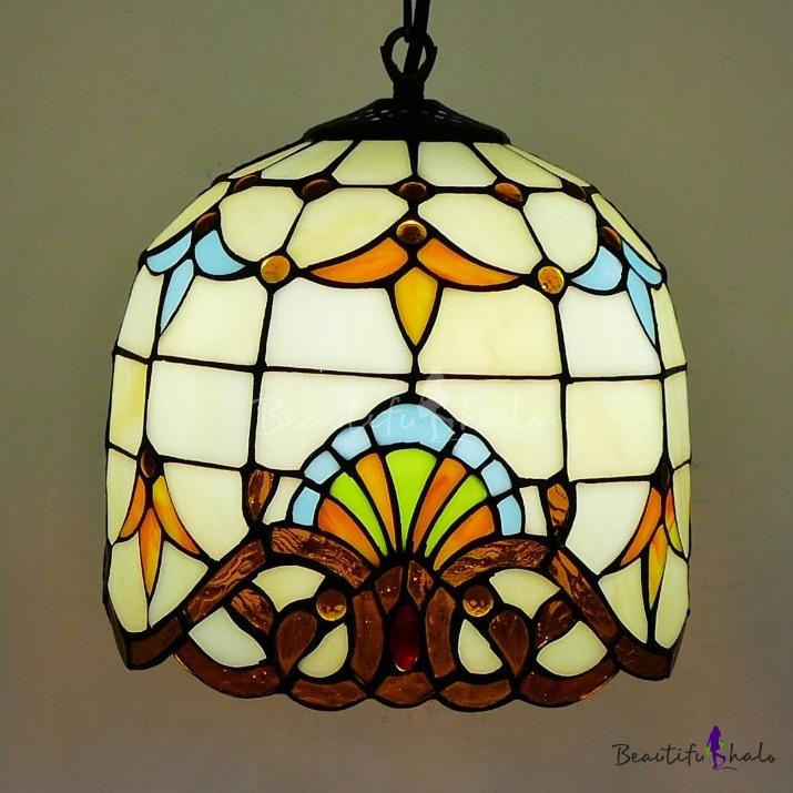 Tiffany Victorian Beige Hanging Light