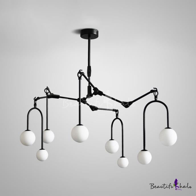 8/9/12 Lights Willow Branch Chandelier Modern Metal Hanging Lamp Black/Gold Living Room